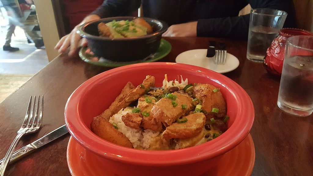 """Photo of Hula's Island Grill  by <a href=""""/members/profile/sarahssoares"""">sarahssoares</a> <br/>Bowl with vegan chicken <br/> March 27, 2018  - <a href='/contact/abuse/image/50527/376799'>Report</a>"""