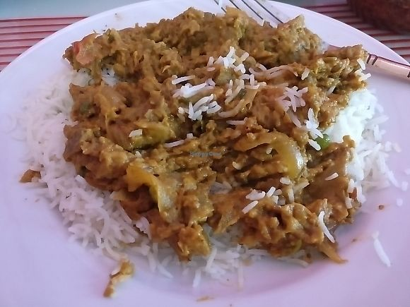 """Photo of Tamarind  by <a href=""""/members/profile/Meaks"""">Meaks</a> <br/>Aubergine curry <br/> June 25, 2017  - <a href='/contact/abuse/image/50547/273296'>Report</a>"""