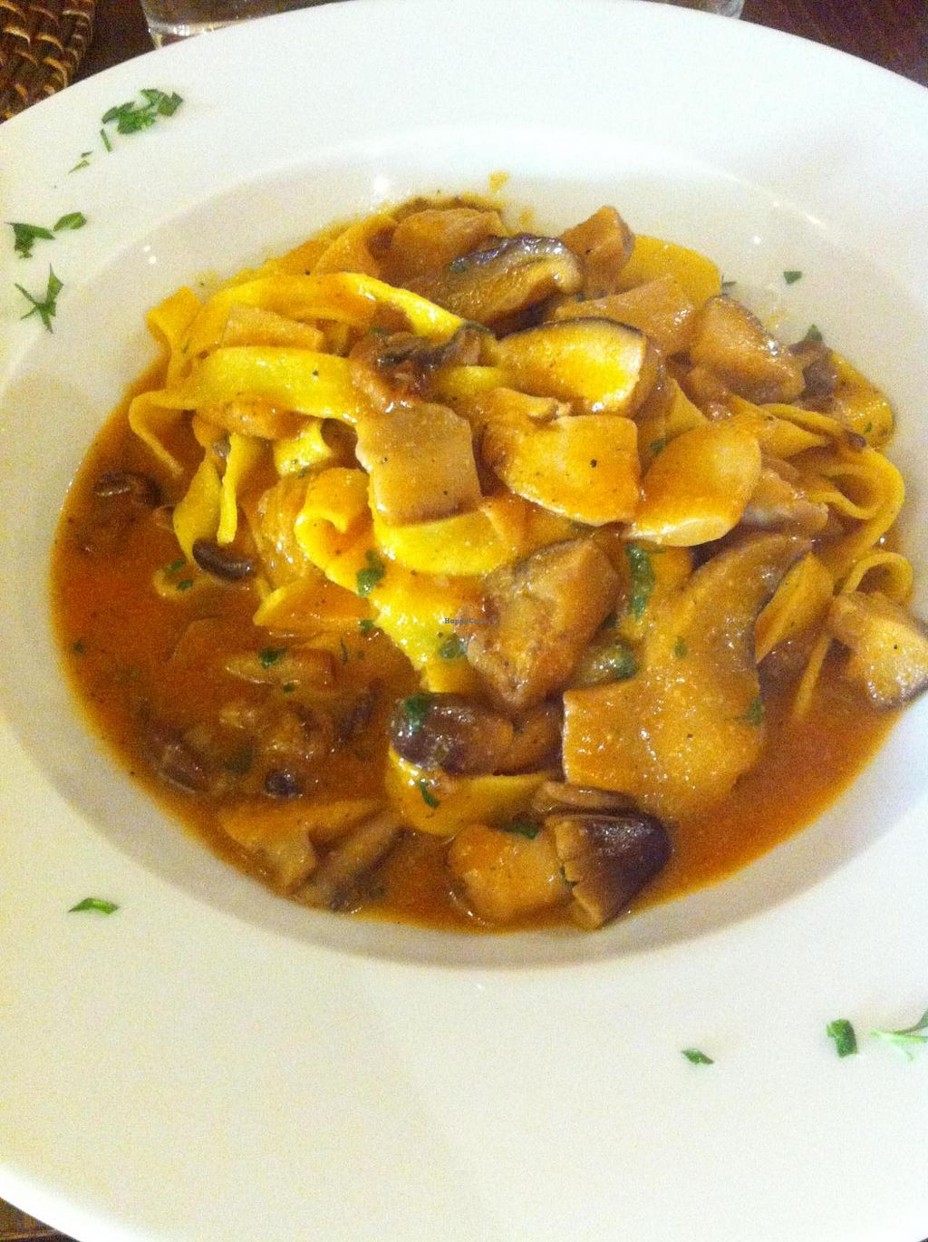 """Photo of Nuraghe  by <a href=""""/members/profile/kulwant"""">kulwant</a> <br/>Tagliatelle with mushrooms and home-made tomato sauce <br/> August 31, 2014  - <a href='/contact/abuse/image/50555/78715'>Report</a>"""