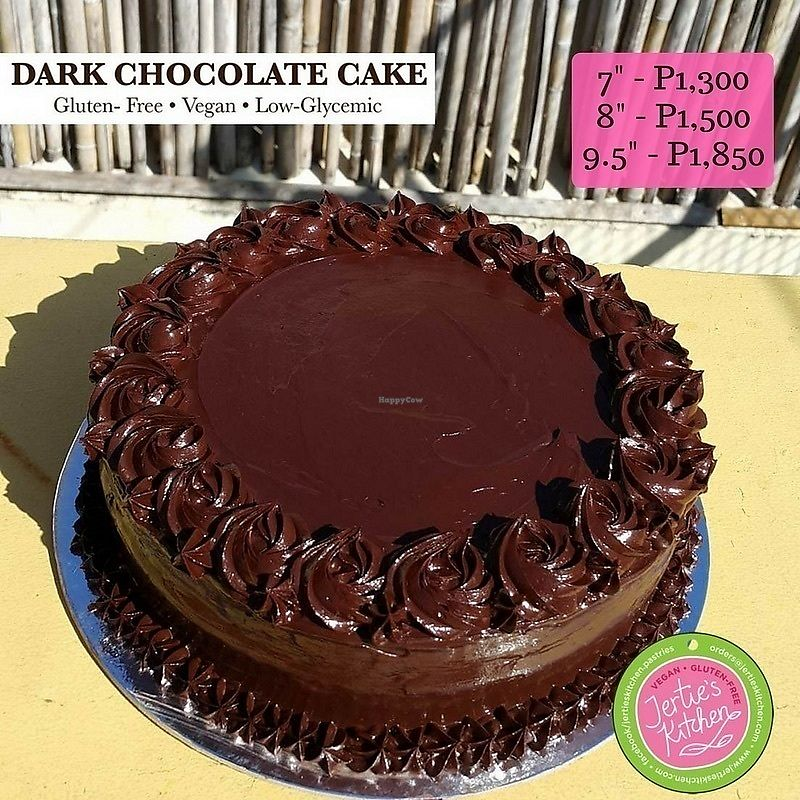 "Photo of Jertie's Kitchen  by <a href=""/members/profile/JaqVeganWriter"">JaqVeganWriter</a> <br/>Gluten-Free/Vegan Dark Choco Cake <br/> November 3, 2017  - <a href='/contact/abuse/image/50574/321335'>Report</a>"