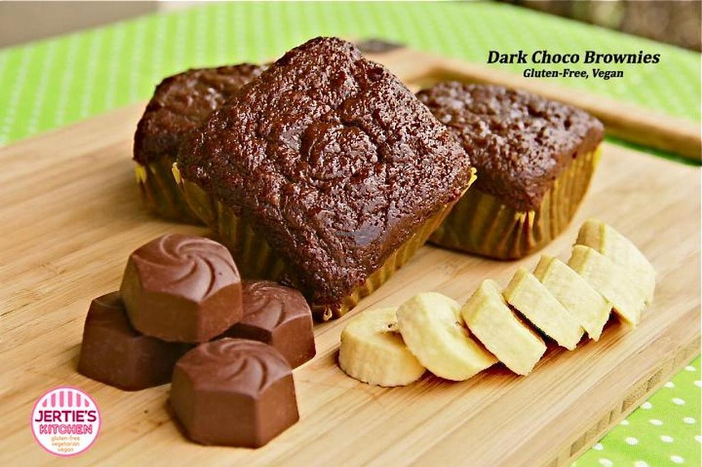 """Photo of Jertie's Kitchen  by <a href=""""/members/profile/JaqVeganWriter"""">JaqVeganWriter</a> <br/>Dark Choco Brownies (Gluten-Free, Vegan) <br/> August 24, 2014  - <a href='/contact/abuse/image/50574/78111'>Report</a>"""