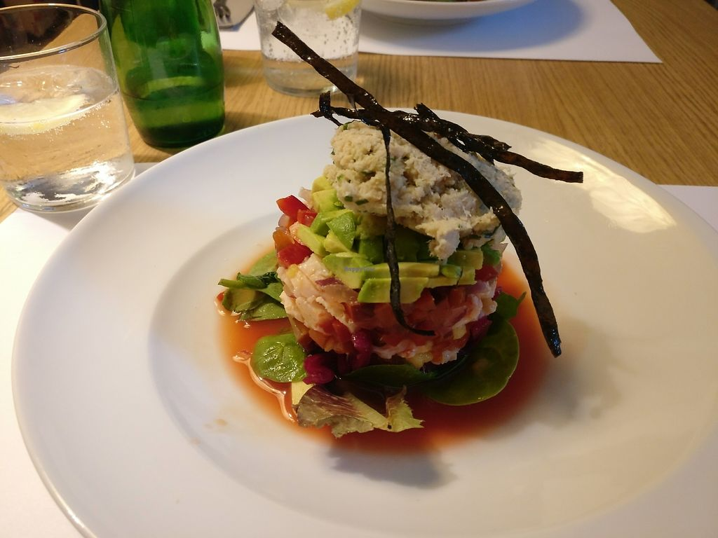 "Photo of Oslo  by <a href=""/members/profile/Meaks"">Meaks</a> <br/>'Seafood' salad starter type thing <br/> July 15, 2017  - <a href='/contact/abuse/image/50583/280471'>Report</a>"