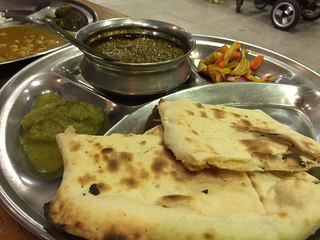 """Photo of Om Vegetarian - Capitol Arcade  by <a href=""""/members/profile/karlaess"""">karlaess</a> <br/>Makki Roti meal deal <br/> August 16, 2015  - <a href='/contact/abuse/image/50591/113913'>Report</a>"""