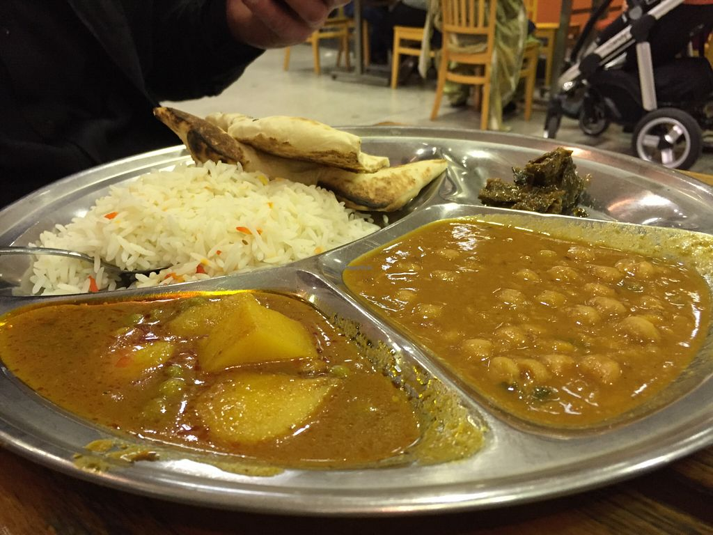 """Photo of Om Vegetarian - Capitol Arcade  by <a href=""""/members/profile/karlaess"""">karlaess</a> <br/>Vegetarian Thaali <br/> August 16, 2015  - <a href='/contact/abuse/image/50591/113916'>Report</a>"""