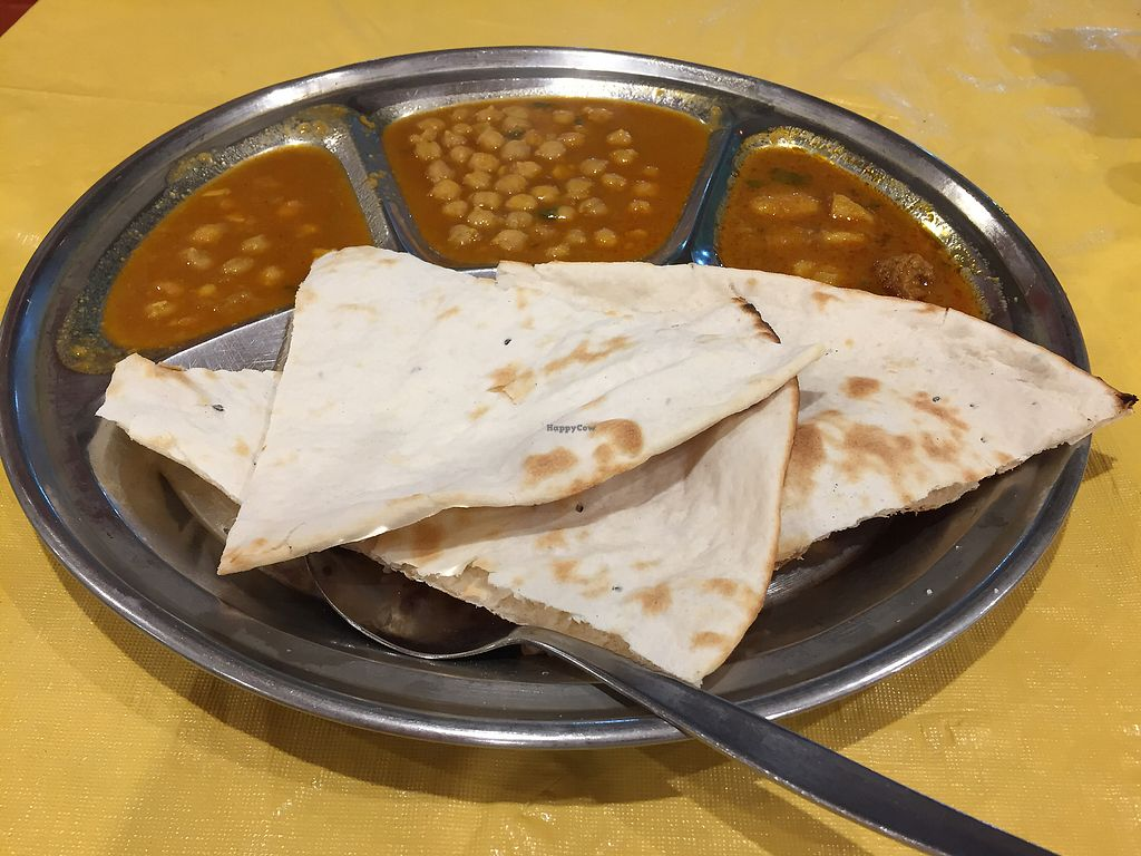 """Photo of Om Vegetarian - Capitol Arcade  by <a href=""""/members/profile/Wuji_Luiji"""">Wuji_Luiji</a> <br/>Vegan thali without rice <br/> December 21, 2017  - <a href='/contact/abuse/image/50591/337723'>Report</a>"""