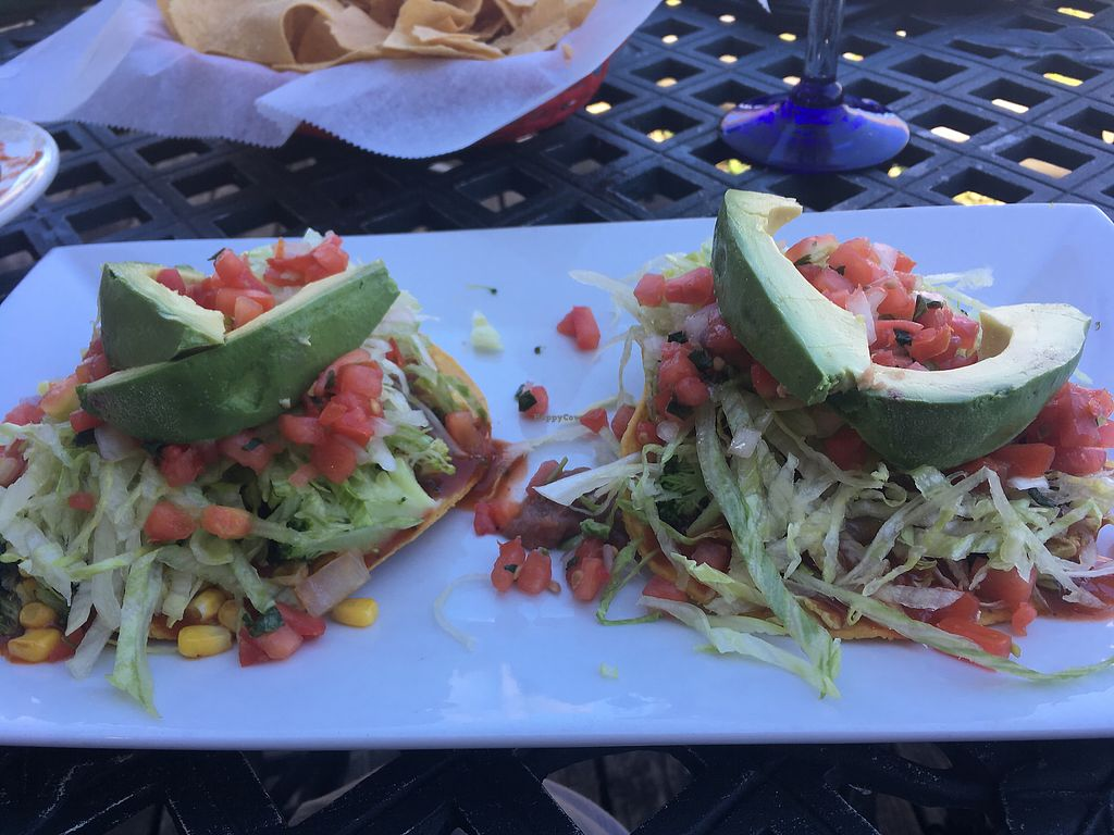 """Photo of Jose's Cantina  by <a href=""""/members/profile/MicheleGrahamSelover"""">MicheleGrahamSelover</a> <br/>tostados ordered vegan <br/> July 29, 2017  - <a href='/contact/abuse/image/50614/286407'>Report</a>"""