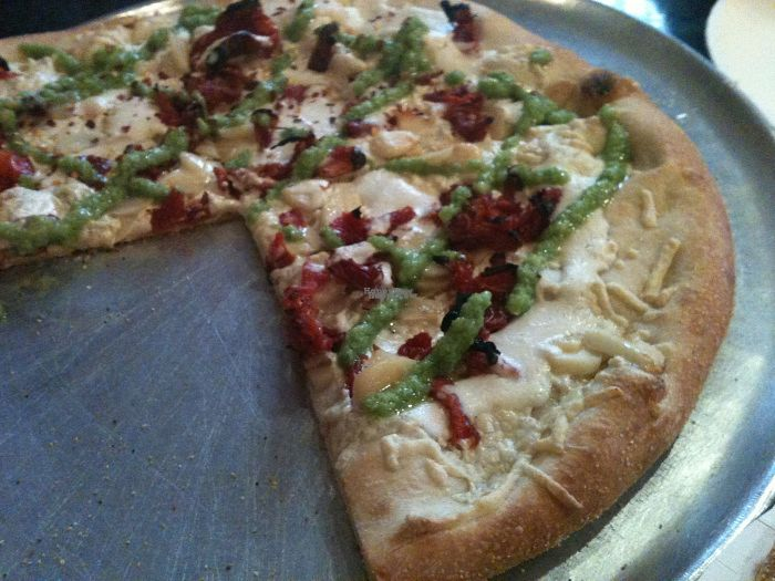 "Photo of Two Boots Pizza  by <a href=""/members/profile/ecoRDN"">ecoRDN</a> <br/>Night Tripper Vegan Pizza from Two Boots NYC -