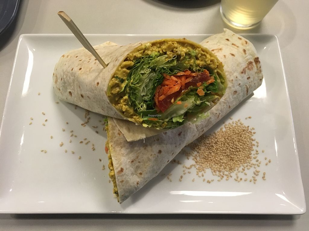 "Photo of VegaVerso  by <a href=""/members/profile/Loesje"">Loesje</a> <br/>Seitan Curry wrap <br/> August 2, 2017  - <a href='/contact/abuse/image/50624/287991'>Report</a>"