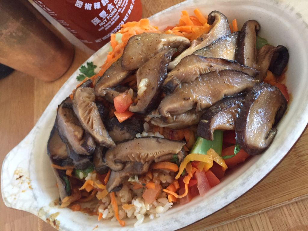 """Photo of Lotus Seed Vegan  by <a href=""""/members/profile/CorCor91"""">CorCor91</a> <br/>Teriyaki Mushroom Burrito Bowl   <br/> August 19, 2016  - <a href='/contact/abuse/image/50638/170113'>Report</a>"""