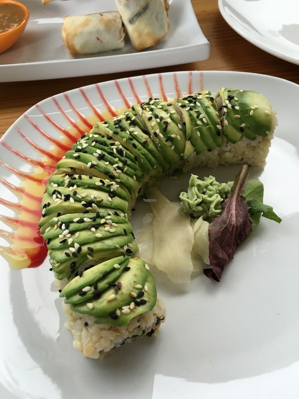 """Photo of Lotus Seed Vegan  by <a href=""""/members/profile/vegan%20frog"""">vegan frog</a> <br/>Dragon rolls <br/> September 3, 2016  - <a href='/contact/abuse/image/50638/173160'>Report</a>"""