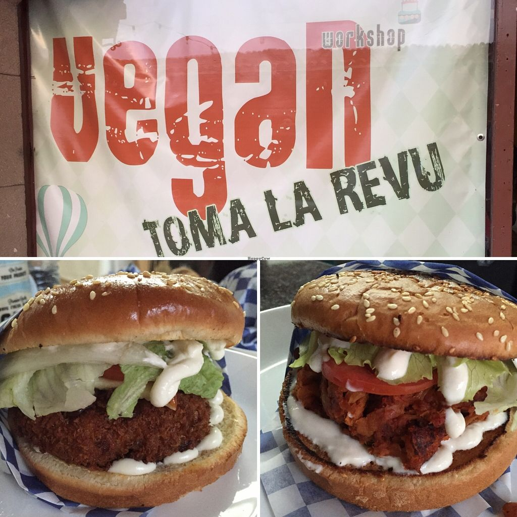 """Photo of Vegan Workshop  by <a href=""""/members/profile/JessicaMerced"""">JessicaMerced</a> <br/>Store front sign and our yummy burgers <br/> May 9, 2016  - <a href='/contact/abuse/image/50640/148193'>Report</a>"""