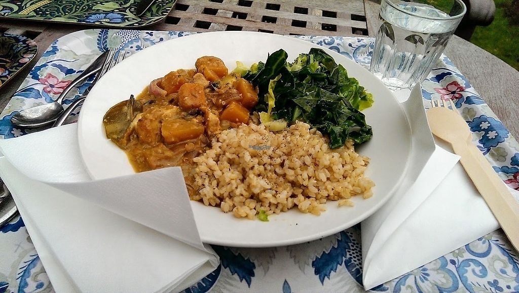 "Photo of Vaults and Garden  by <a href=""/members/profile/sophiecow"">sophiecow</a> <br/>Vegan curry and greens <br/> February 5, 2017  - <a href='/contact/abuse/image/50659/222939'>Report</a>"