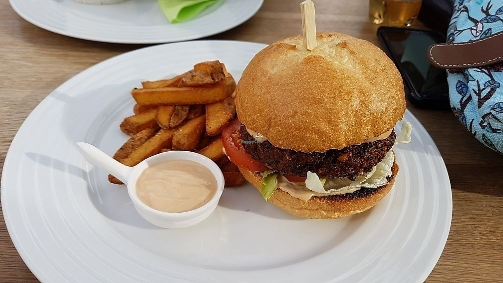 """Photo of Restaurant Sojka and Spol  by <a href=""""/members/profile/Ludmilka"""">Ludmilka</a> <br/>Vegan burger <br/> July 1, 2017  - <a href='/contact/abuse/image/50674/275707'>Report</a>"""