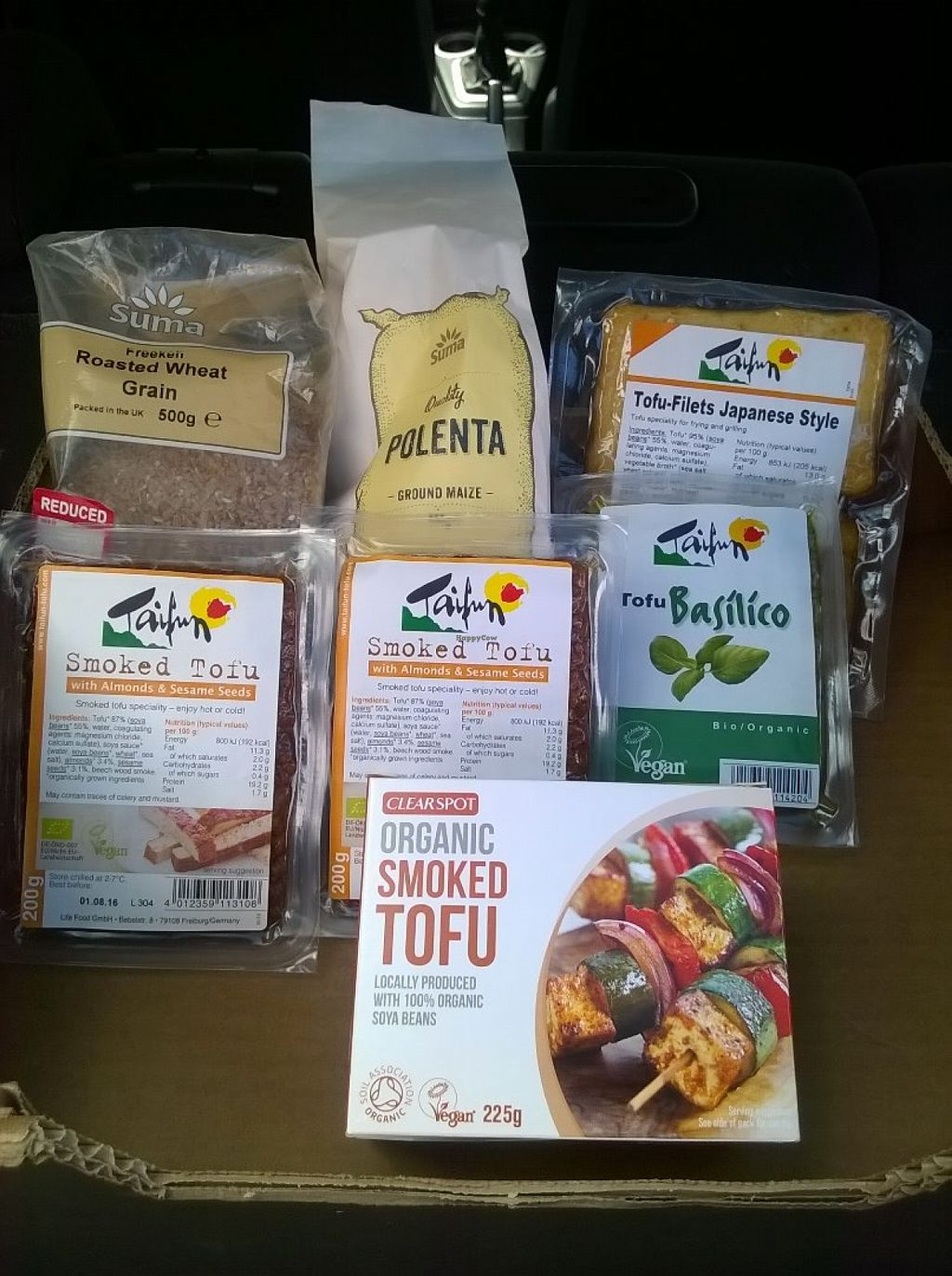 """Photo of The Honey Tree  by <a href=""""/members/profile/deadpledge"""">deadpledge</a> <br/>Tofu, freekeh, polenta selection <br/> June 23, 2016  - <a href='/contact/abuse/image/50761/155684'>Report</a>"""