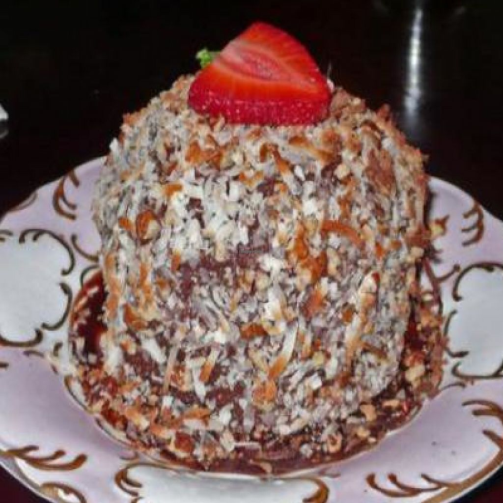"""Photo of CLOSED: Fatty's and Co  by <a href=""""/members/profile/quarrygirl"""">quarrygirl</a> <br/>Fudgey: a two layer chocolate bundt cake with chocolate ganache, toasted coconut and pecan frosting with a creamy center <br/> December 26, 2011  - <a href='/contact/abuse/image/5078/188308'>Report</a>"""