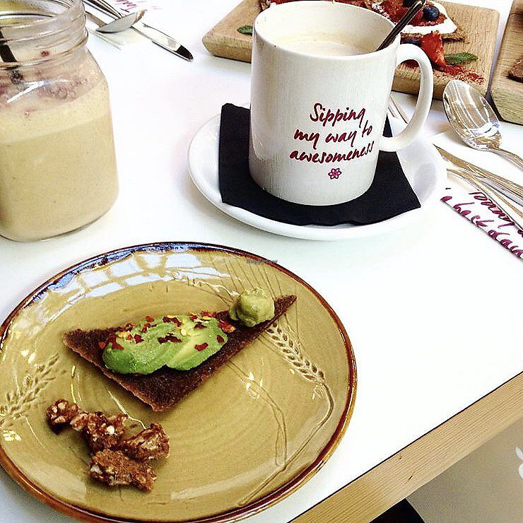 """Photo of Tanya's Cafe  by <a href=""""/members/profile/thecharlotte"""">thecharlotte</a> <br/>Avocado with raw bread  <br/> November 5, 2017  - <a href='/contact/abuse/image/50791/322203'>Report</a>"""