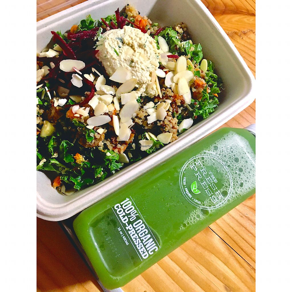 "Photo of The Fresh Press  by <a href=""/members/profile/Hannahg"">Hannahg</a> <br/>Harvest bowl & green juice <br/> October 28, 2017  - <a href='/contact/abuse/image/50825/319468'>Report</a>"