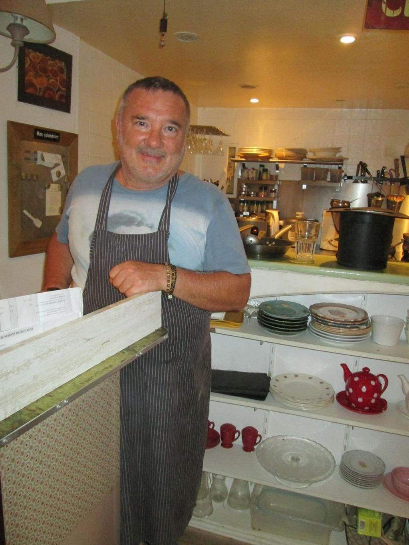"Photo of La Cerise Sur Le Gateau  by <a href=""/members/profile/Veganswife"">Veganswife</a> <br/>Chef, Jen PaulChristian, in his retsaurant, La Cerise sur le Gateau <br/> September 15, 2014  - <a href='/contact/abuse/image/50837/79962'>Report</a>"