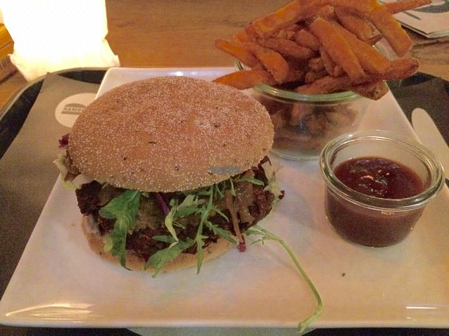 """Photo of Hamburgerei  by <a href=""""/members/profile/Strawberrymilkshake"""">Strawberrymilkshake</a> <br/>perser with sweetpotato fries <br/> September 20, 2016  - <a href='/contact/abuse/image/50871/176953'>Report</a>"""