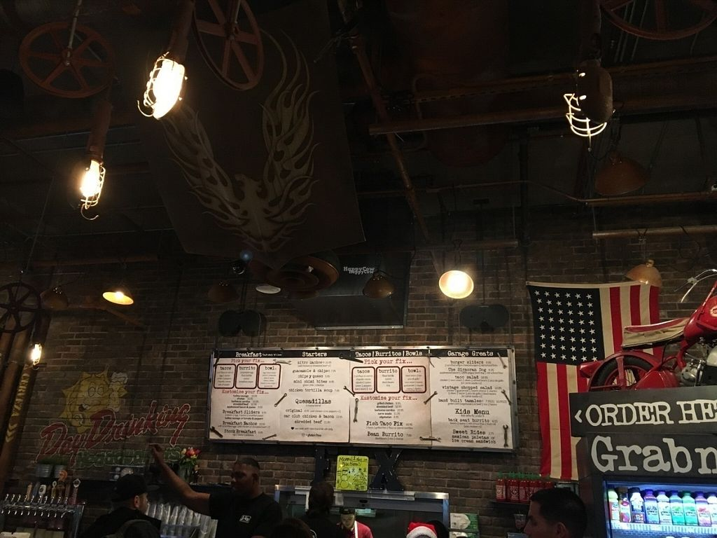 """Photo of Sir Veza's Taco Garage - On the Fly  by <a href=""""/members/profile/Tigra220"""">Tigra220</a> <br/>menu board <br/> August 29, 2016  - <a href='/contact/abuse/image/50890/172081'>Report</a>"""