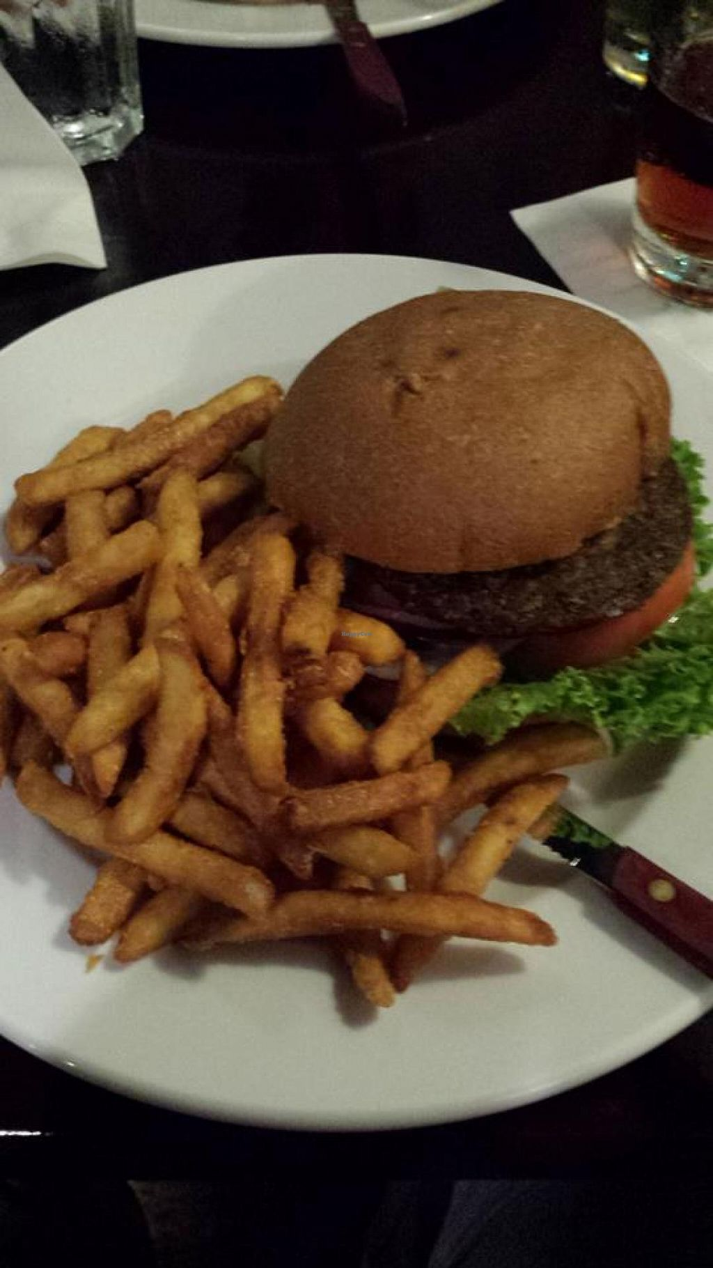 "Photo of Colleen's at The Cannery  by <a href=""/members/profile/Meggie%20and%20Ben"">Meggie and Ben</a> <br/>Organic life burger (comes with vegan mayo by default) <br/> September 19, 2014  - <a href='/contact/abuse/image/50893/80447'>Report</a>"