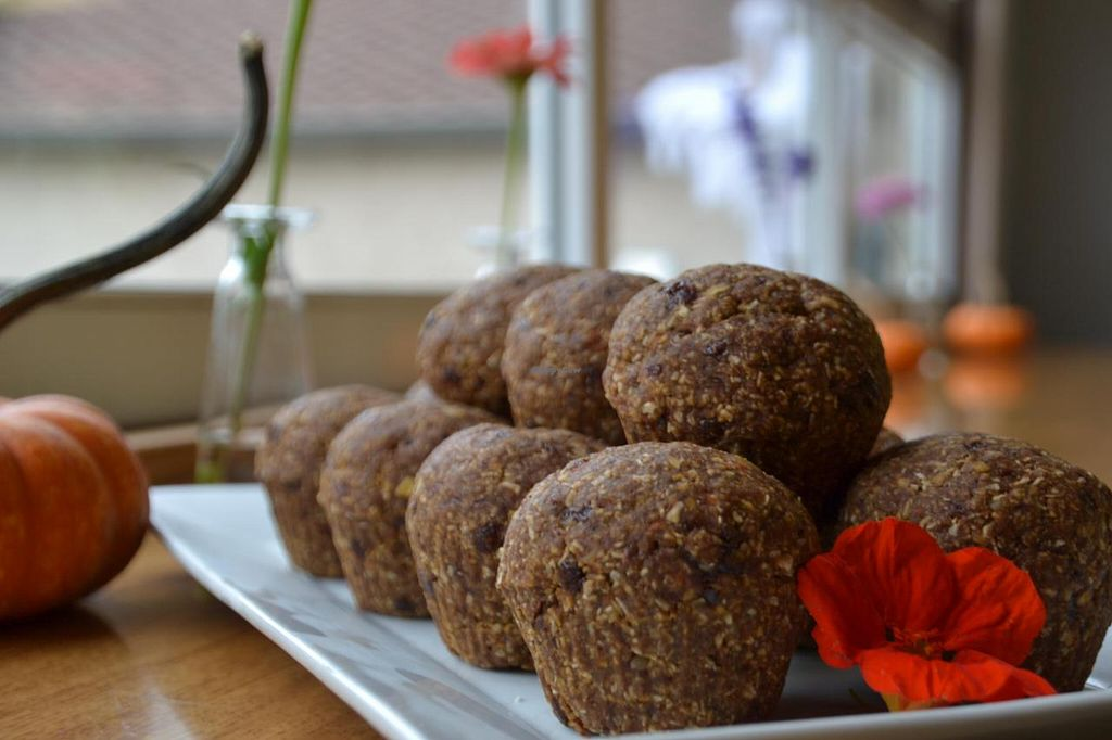 """Photo of Ezra's Enlightened Cafe  by <a href=""""/members/profile/earthychick"""">earthychick</a> <br/>We're open for breakfast & our super healthy Vegan Carrot Spice Muffin hits the spot. It's Gluten-Free, Dairy-Free & Nut Free & Paleo friendly. Ask for it warm or chilled.  <br/> October 23, 2014  - <a href='/contact/abuse/image/50895/83728'>Report</a>"""