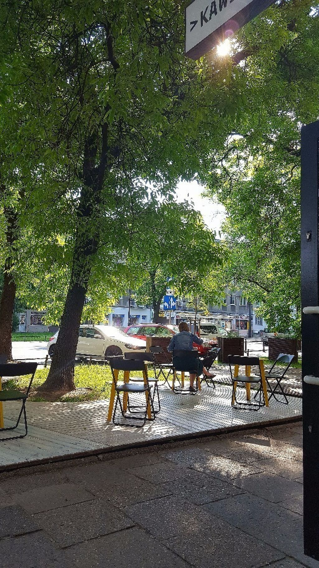 """Photo of Kawiarnia Fawory  by <a href=""""/members/profile/vanialuena"""">vanialuena</a> <br/>Kawiarnia Fawory, Krakow. Outdoor seating area <br/> May 30, 2017  - <a href='/contact/abuse/image/50904/264210'>Report</a>"""