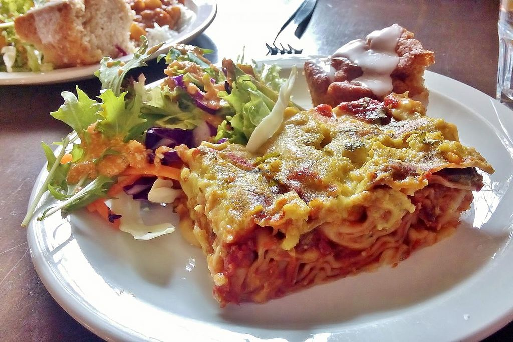 "Photo of Mantra Lounge  by <a href=""/members/profile/verbosity"">verbosity</a> <br/>Lasagne, salad & cake <br/> July 18, 2015  - <a href='/contact/abuse/image/50906/109840'>Report</a>"