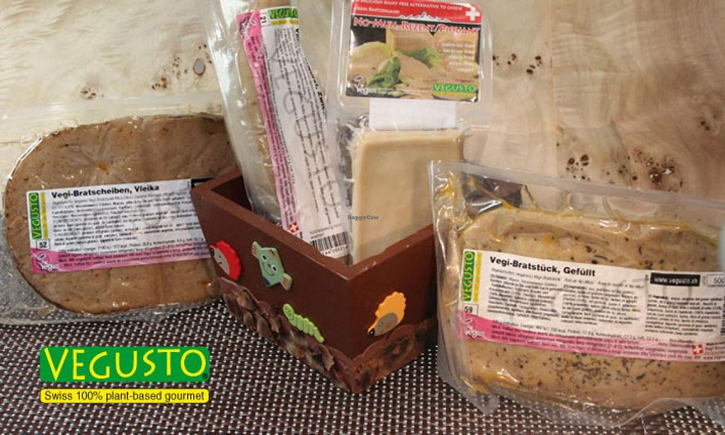 "Photo of Vegusto Switzerland  by <a href=""/members/profile/SwissVegan"">SwissVegan</a> <br/>wide variety of vegan meat and cheese alternatives <br/> October 14, 2014  - <a href='/contact/abuse/image/50928/82891'>Report</a>"