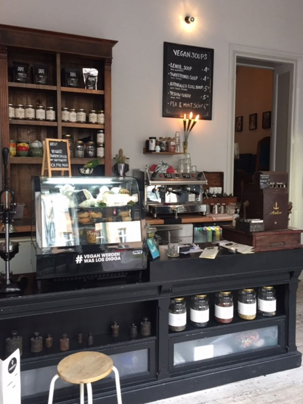 """Photo of CLOSED: Charlie's Vegan Food & Coffee  by <a href=""""/members/profile/Dakini05"""">Dakini05</a> <br/>Counter <br/> June 12, 2016  - <a href='/contact/abuse/image/50935/153663'>Report</a>"""