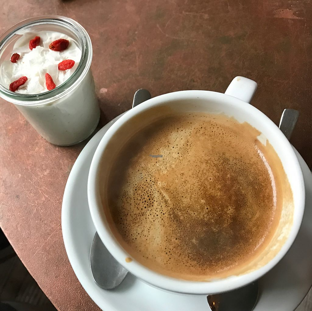 """Photo of CLOSED: Charlie's Vegan Food & Coffee  by <a href=""""/members/profile/marky_mark"""">marky_mark</a> <br/>coffee & coconut dessert <br/> December 13, 2016  - <a href='/contact/abuse/image/50935/200675'>Report</a>"""