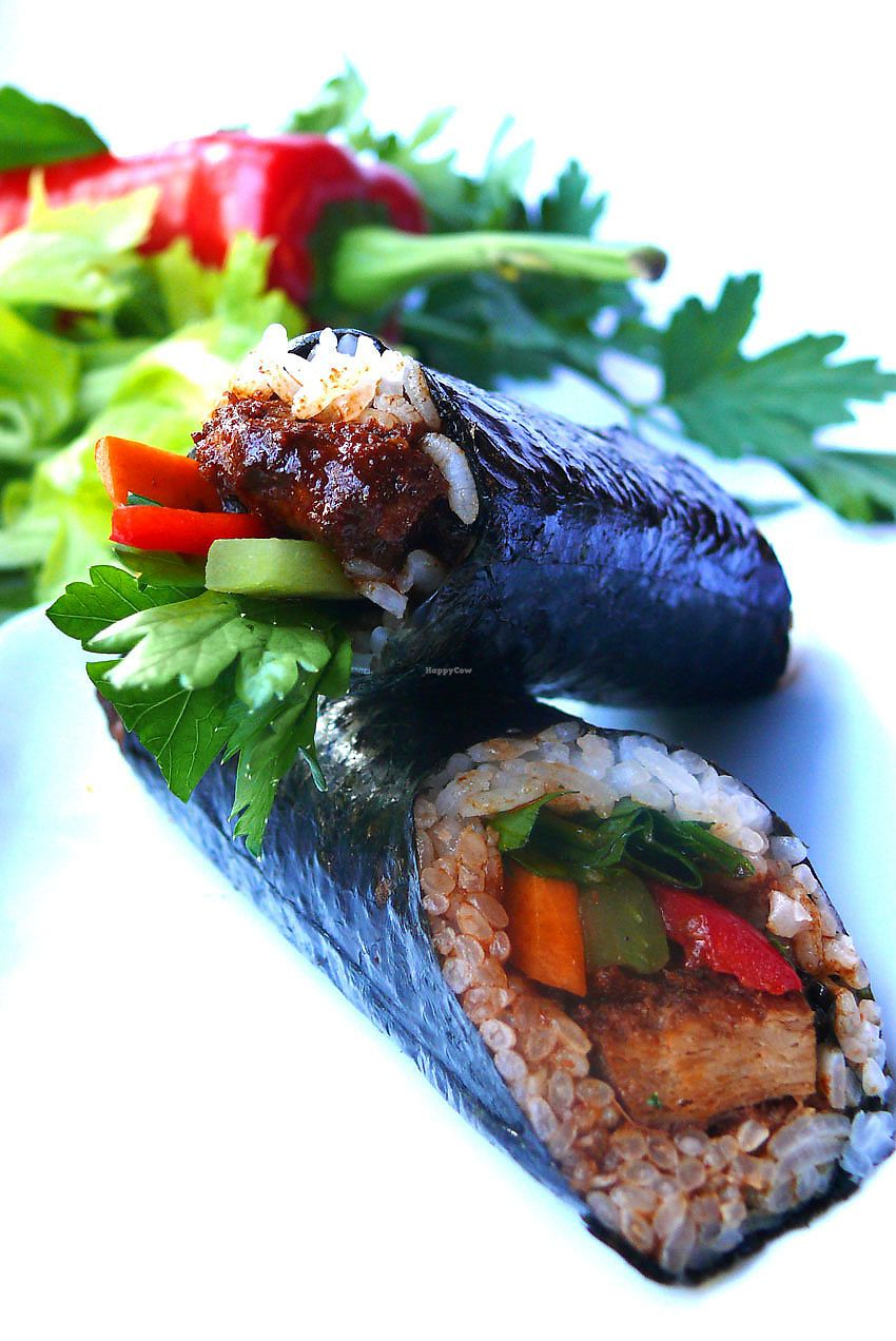 """Photo of vVasabi  by <a href=""""/members/profile/schurize"""">schurize</a> <br/>vegans sushi by vVasabi - Gulasch Roll <br/> October 28, 2017  - <a href='/contact/abuse/image/50940/319454'>Report</a>"""