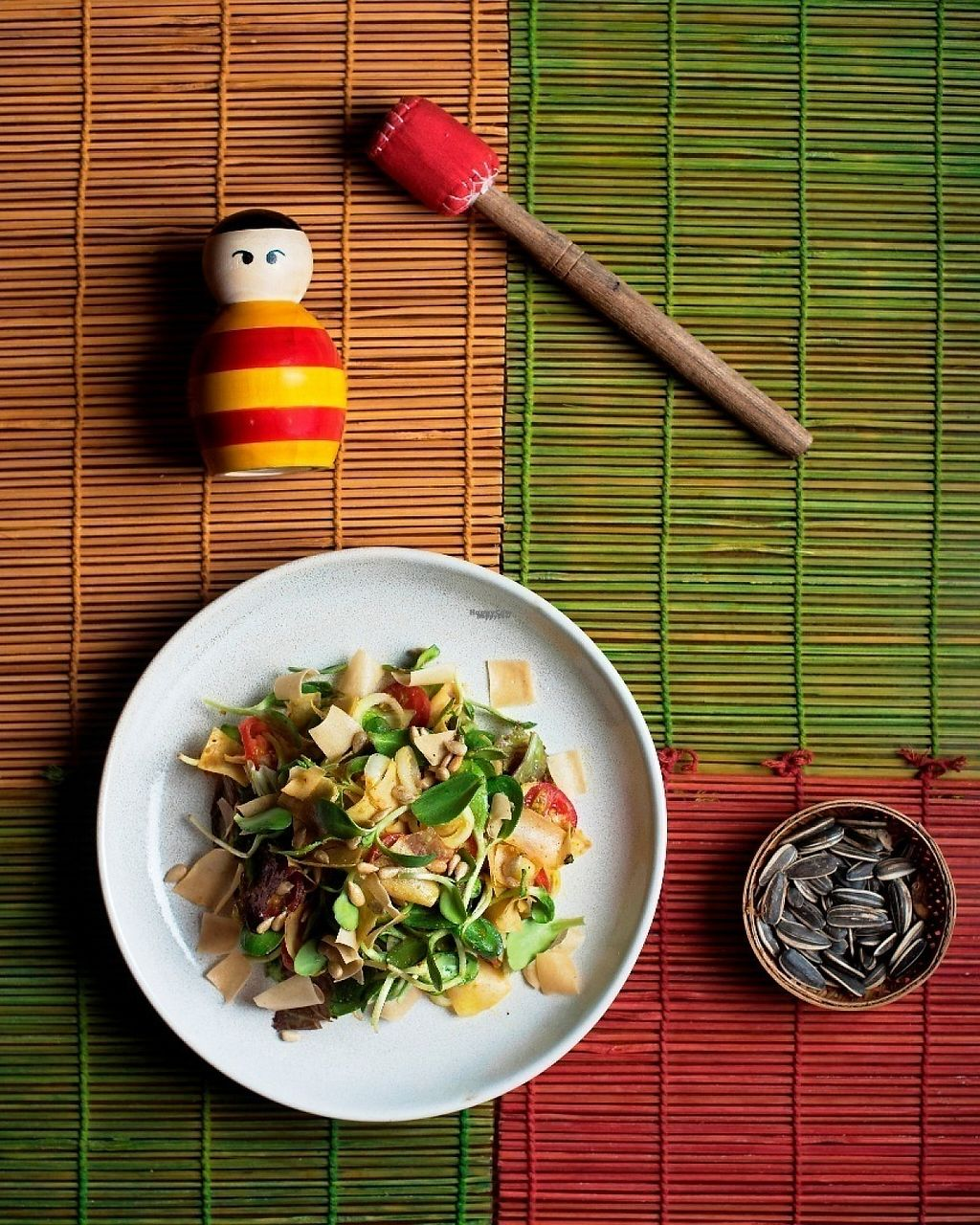 "Photo of Burma Burma  by <a href=""/members/profile/ankitburmaburma"">ankitburmaburma</a> <br/>Sunflower Leaves and Crispy Wheat Flakes Salad <br/> March 17, 2017  - <a href='/contact/abuse/image/50957/237362'>Report</a>"
