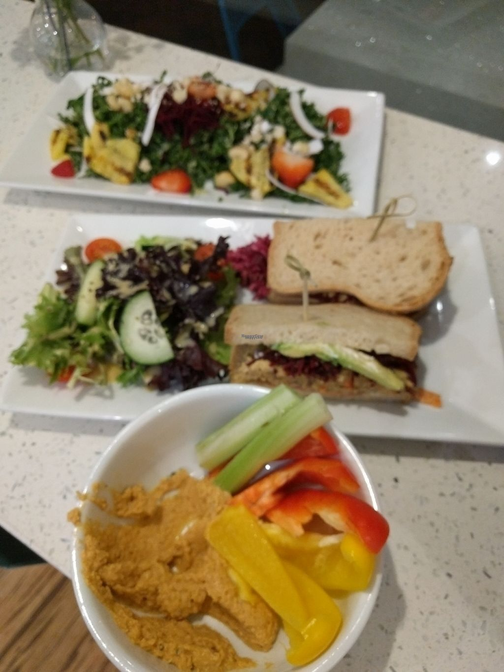 """Photo of JOi Cafe  by <a href=""""/members/profile/MatthewVBogusz"""">MatthewVBogusz</a> <br/>three course meal, appetizer, salad, and sandwich <br/> February 11, 2017  - <a href='/contact/abuse/image/50969/225122'>Report</a>"""