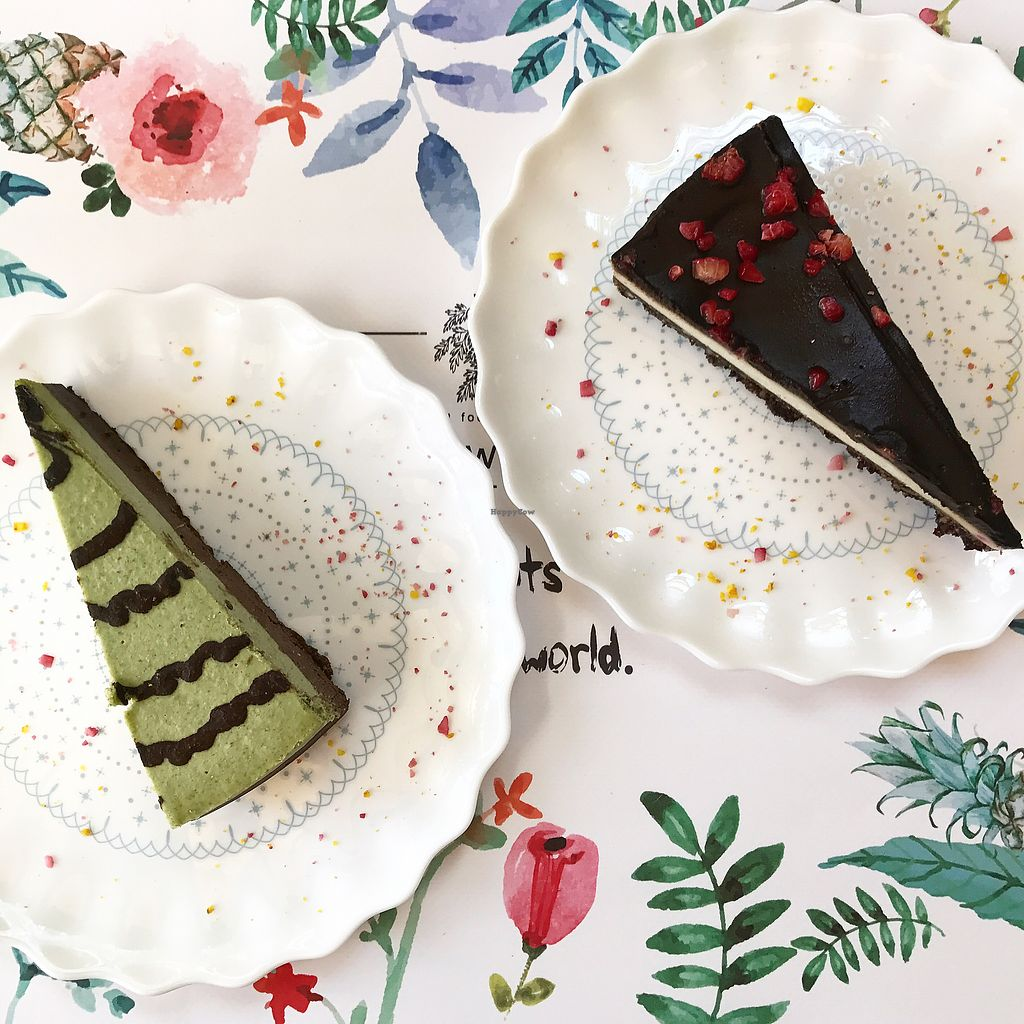 """Photo of Rawmazing  by <a href=""""/members/profile/thecharlotte"""">thecharlotte</a> <br/>Mint chocolate and Chocolate vanilla cakes <br/> August 22, 2017  - <a href='/contact/abuse/image/50971/295671'>Report</a>"""