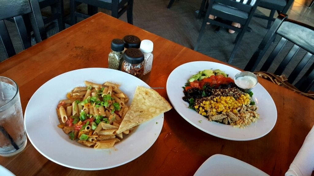 "Photo of Picazzo's Organic Italian Kitchen  by <a href=""/members/profile/VegManda"">VegManda</a> <br/>Vegan Zo's Salad and Spicy Chipotle Pasta <br/> July 4, 2016  - <a href='/contact/abuse/image/51011/157648'>Report</a>"