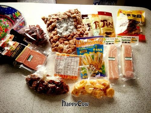 "Photo of Layonna Vege  by <a href=""/members/profile/LaurenMoody"">LaurenMoody</a> <br/>Everything vegan!  Chicken chunks, thai beef, scallops and calamari strips, jerky, char sui, crab sticks, bacon, ham slices, and tuna! <br/> June 15, 2013  - <a href='/contact/abuse/image/5105/49616'>Report</a>"