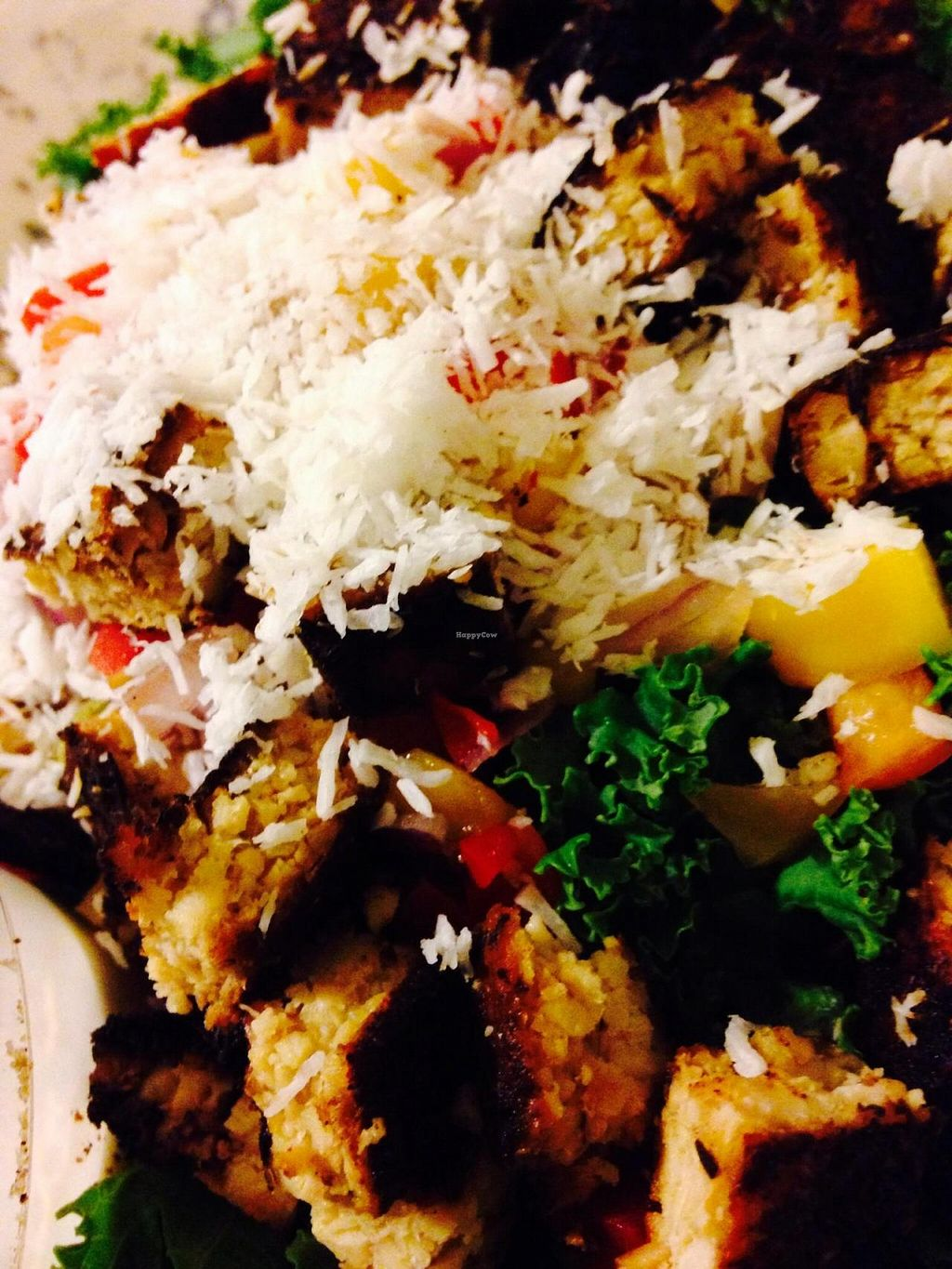 """Photo of CLOSED: Native Foods - Conn Ave  by <a href=""""/members/profile/cookiem"""">cookiem</a> <br/>Caribbean jerk kale salad <br/> November 9, 2014  - <a href='/contact/abuse/image/51093/85134'>Report</a>"""