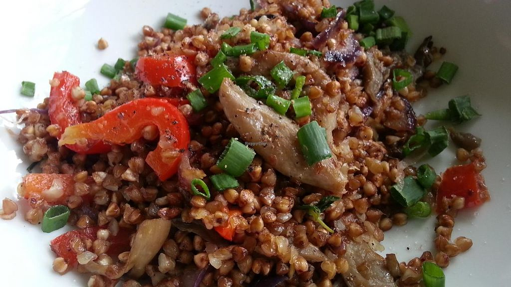 """Photo of Osma Kolonia  by <a href=""""/members/profile/eric"""">eric</a> <br/>Buckwheat with grill veggies <br/> May 11, 2015  - <a href='/contact/abuse/image/51103/101860'>Report</a>"""