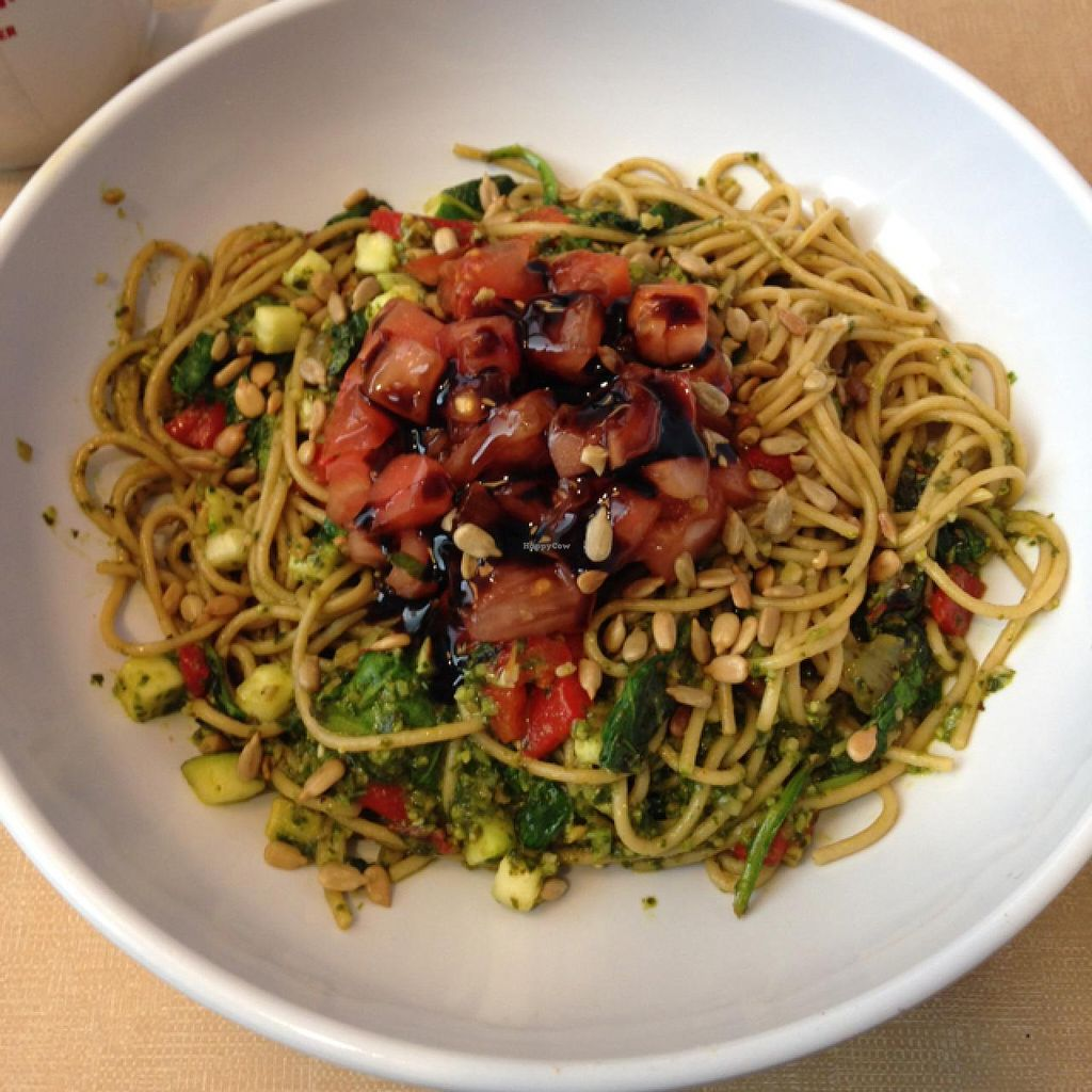 """Photo of Silver Diner - BWI Airport  by <a href=""""/members/profile/skipperkt"""">skipperkt</a> <br/>vegan pesto pasta <br/> February 3, 2015  - <a href='/contact/abuse/image/51156/92143'>Report</a>"""