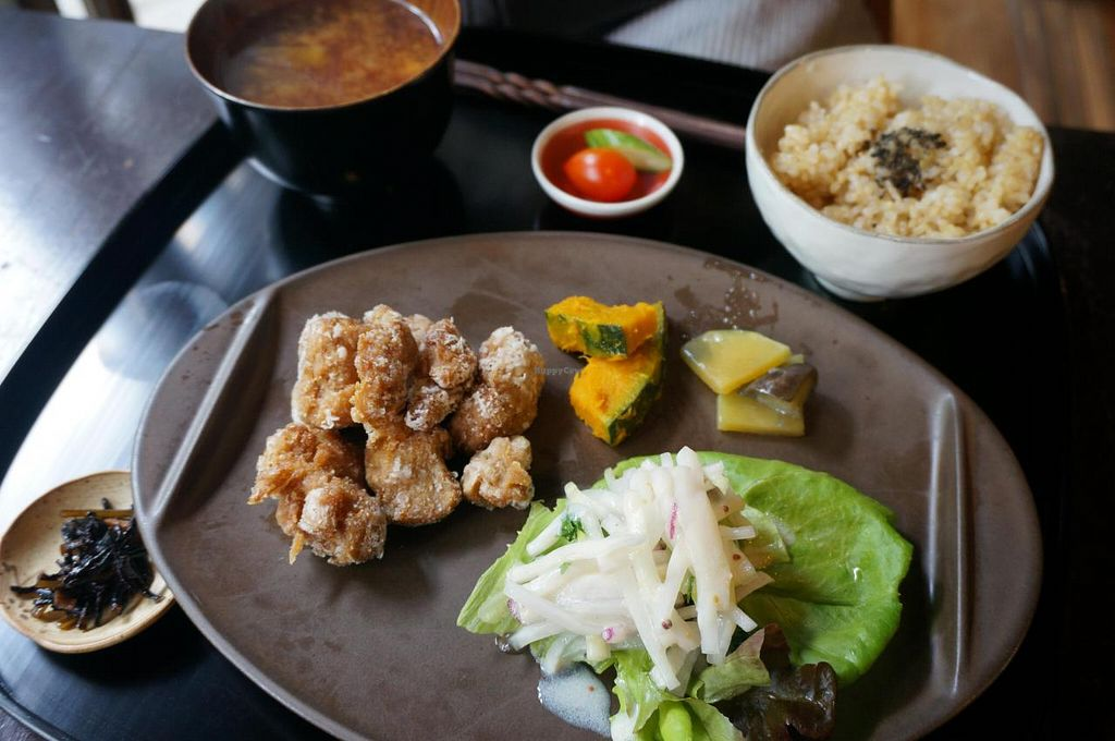 """Photo of Kamakura Vegetable Cafe  by <a href=""""/members/profile/Ricardo"""">Ricardo</a> <br/>Lunch plate <br/> September 11, 2014  - <a href='/contact/abuse/image/51157/79615'>Report</a>"""