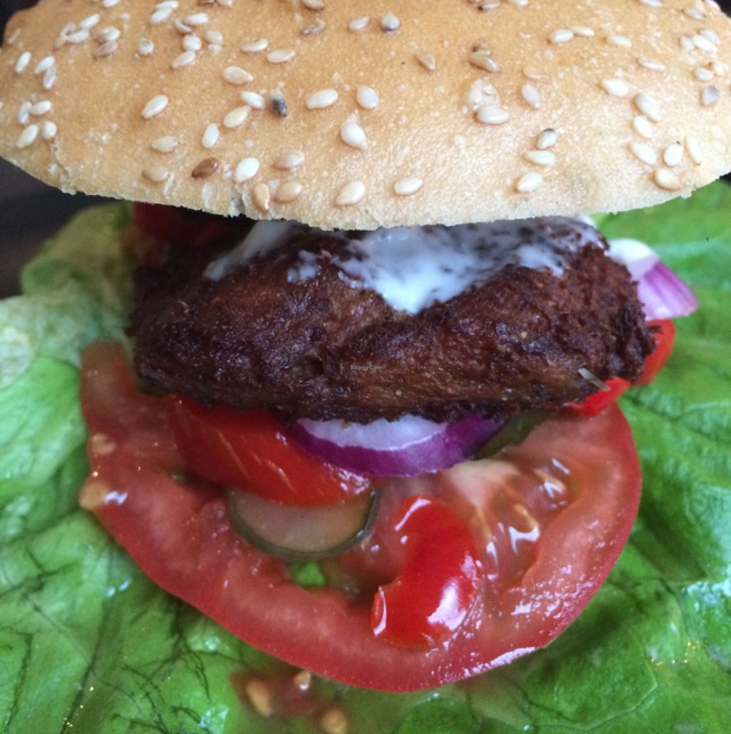 """Photo of CLOSED: vb veganburgers  by <a href=""""/members/profile/Beaa"""">Beaa</a> <br/>soy Burger <br/> November 13, 2015  - <a href='/contact/abuse/image/51207/124874'>Report</a>"""