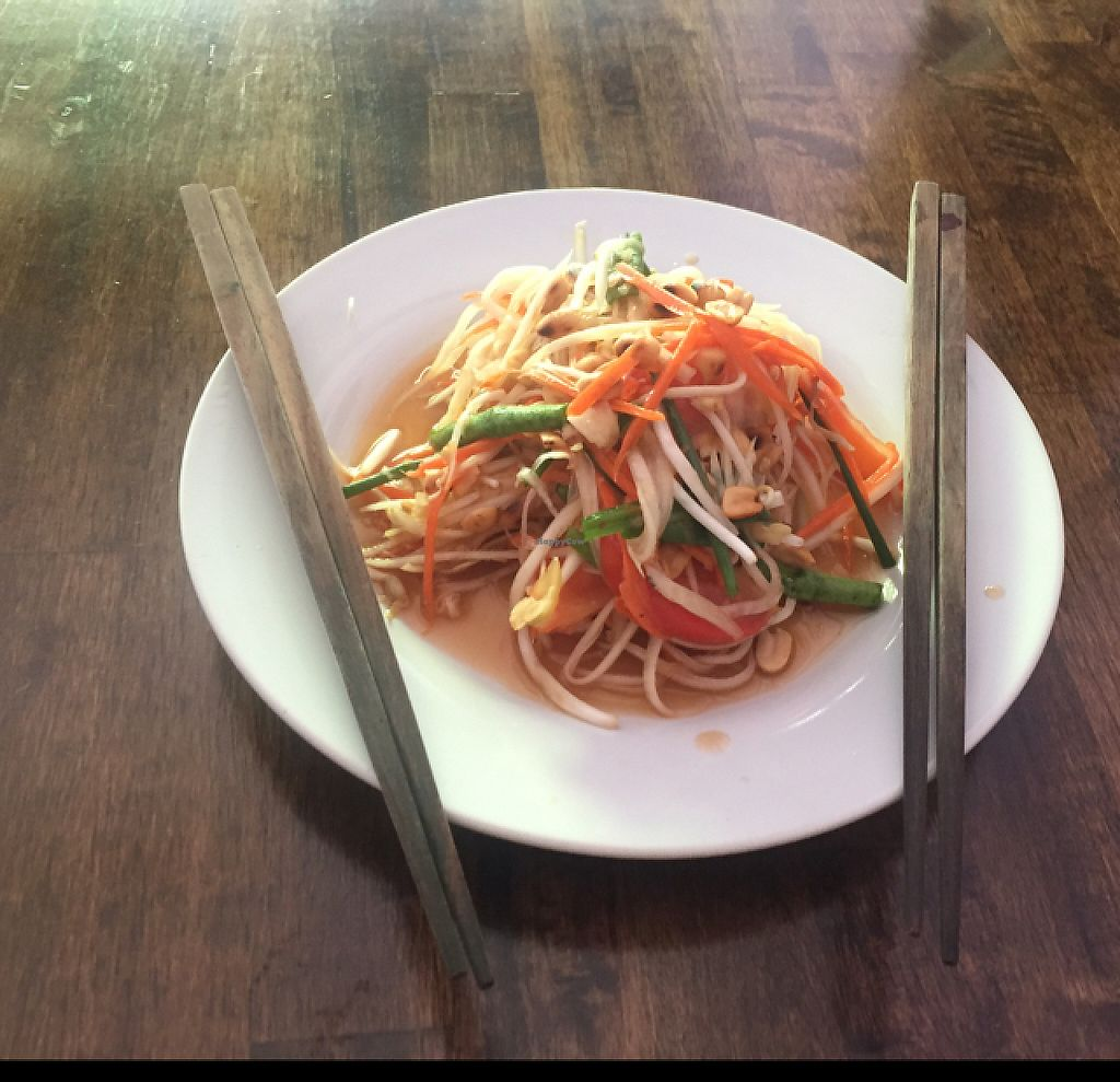 """Photo of May Kaidee - Chiang Mai  by <a href=""""/members/profile/kate.sugak"""">kate.sugak</a> <br/>super tasty green papaya salad, ask for no spicy  <br/> May 1, 2017  - <a href='/contact/abuse/image/51213/254509'>Report</a>"""