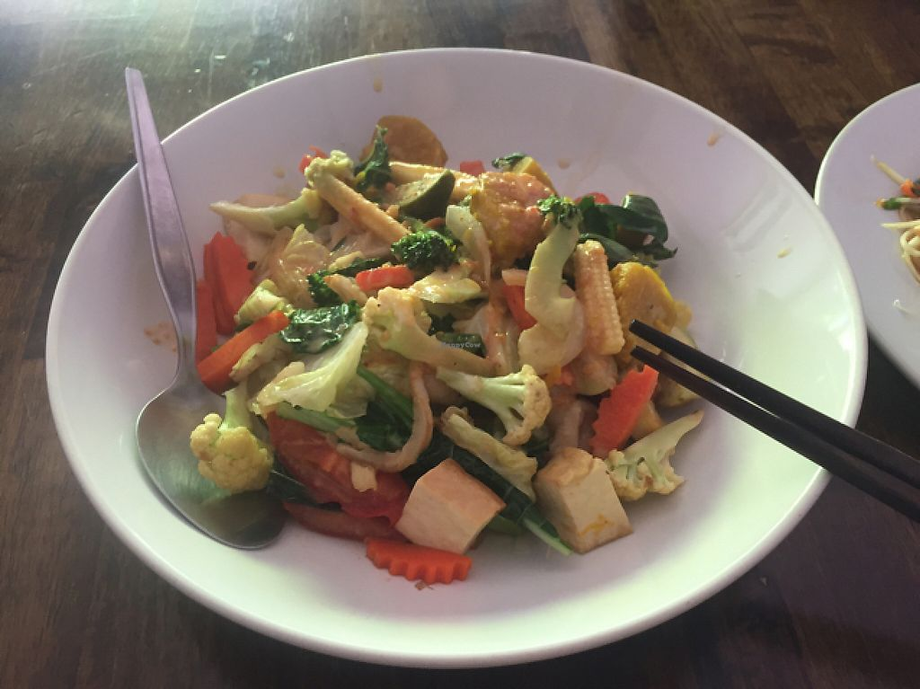 """Photo of May Kaidee - Chiang Mai  by <a href=""""/members/profile/kate.sugak"""">kate.sugak</a> <br/>amazing green curry noodles  <br/> May 1, 2017  - <a href='/contact/abuse/image/51213/254510'>Report</a>"""