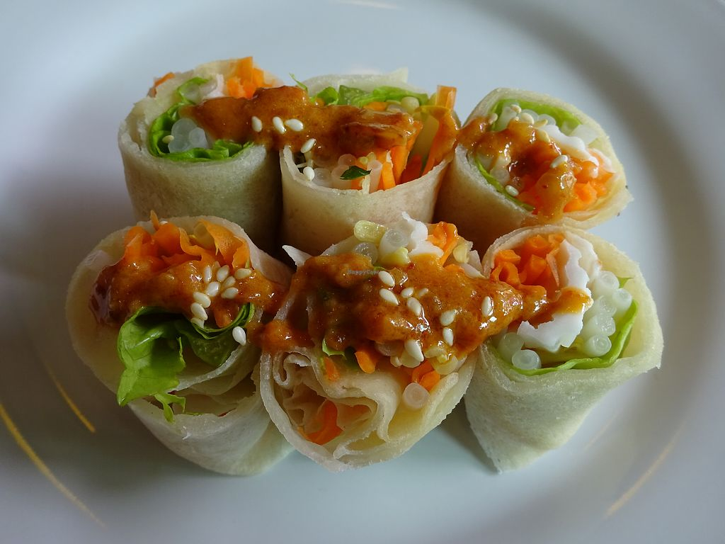 """Photo of May Kaidee - Chiang Mai  by <a href=""""/members/profile/Umeko"""">Umeko</a> <br/>summer roll from cooking course <br/> November 23, 2017  - <a href='/contact/abuse/image/51213/328357'>Report</a>"""