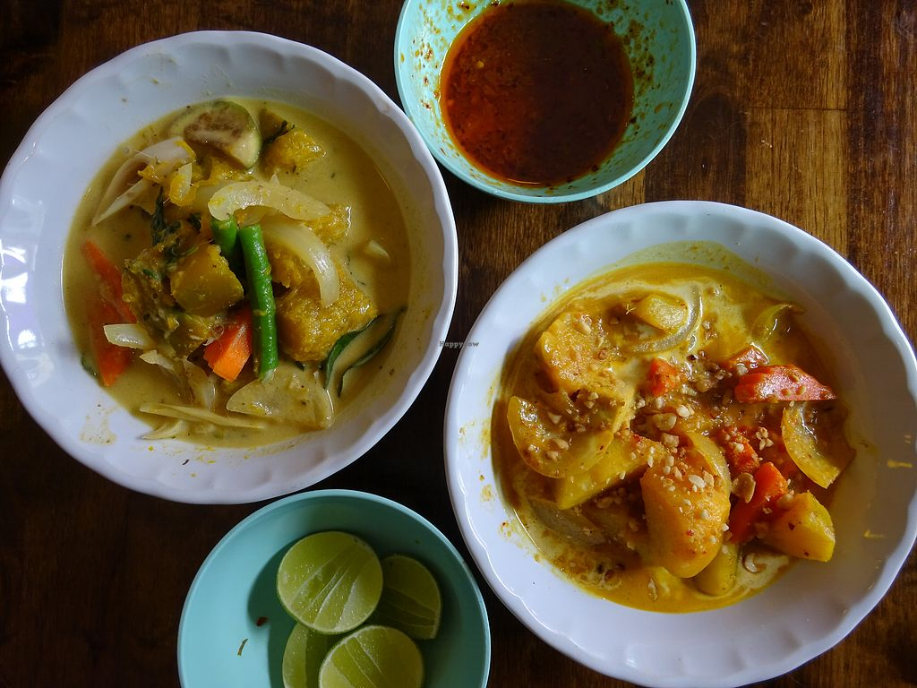 """Photo of May Kaidee - Chiang Mai  by <a href=""""/members/profile/Umeko"""">Umeko</a> <br/>green and massaman curries from cooking course <br/> November 23, 2017  - <a href='/contact/abuse/image/51213/328361'>Report</a>"""