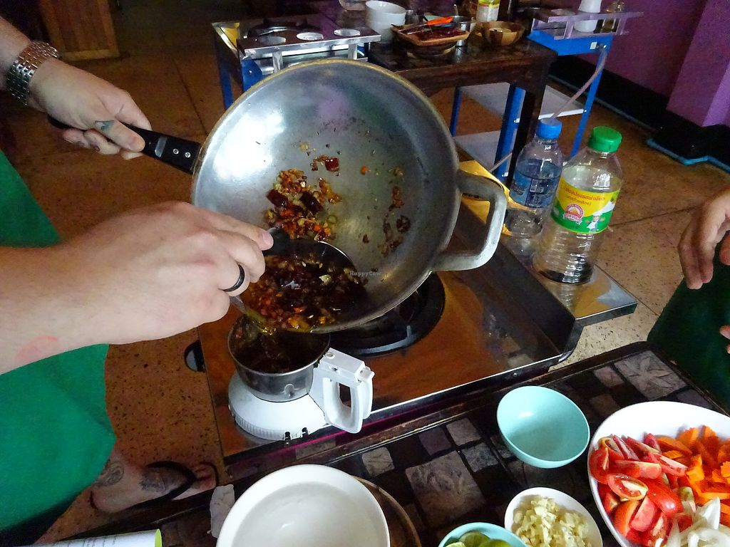 """Photo of May Kaidee - Chiang Mai  by <a href=""""/members/profile/Umeko"""">Umeko</a> <br/>making curry paste from cooking course <br/> November 23, 2017  - <a href='/contact/abuse/image/51213/328362'>Report</a>"""