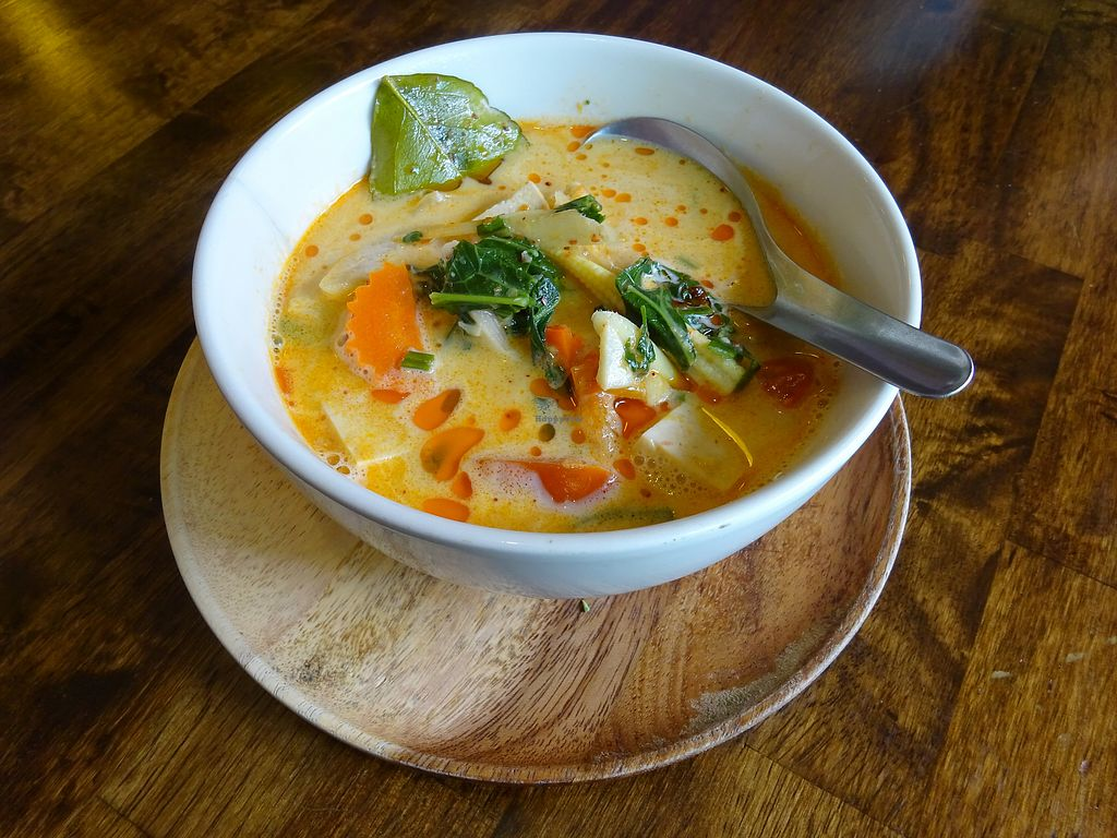 """Photo of May Kaidee - Chiang Mai  by <a href=""""/members/profile/Umeko"""">Umeko</a> <br/>tom yum coconut soup from cooking course <br/> November 23, 2017  - <a href='/contact/abuse/image/51213/328363'>Report</a>"""