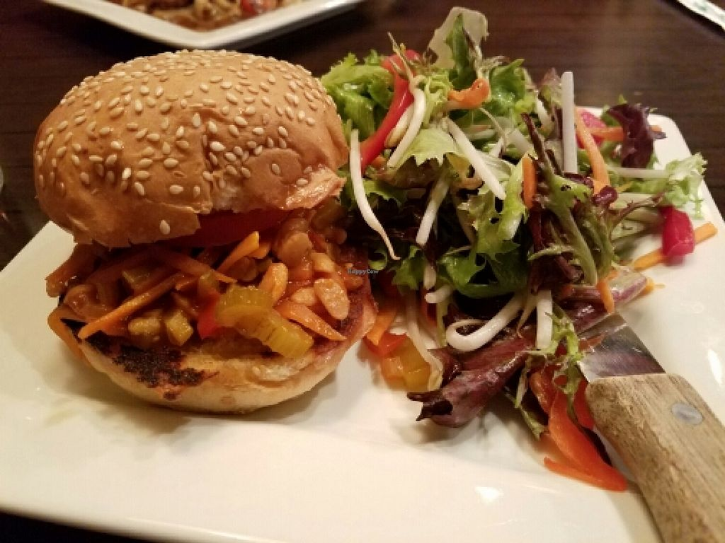 "Photo of Ginger Hop  by <a href=""/members/profile/EverydayTastiness"">EverydayTastiness</a> <br/>Steven Segal burger with salad <br/> March 24, 2016  - <a href='/contact/abuse/image/51251/141192'>Report</a>"