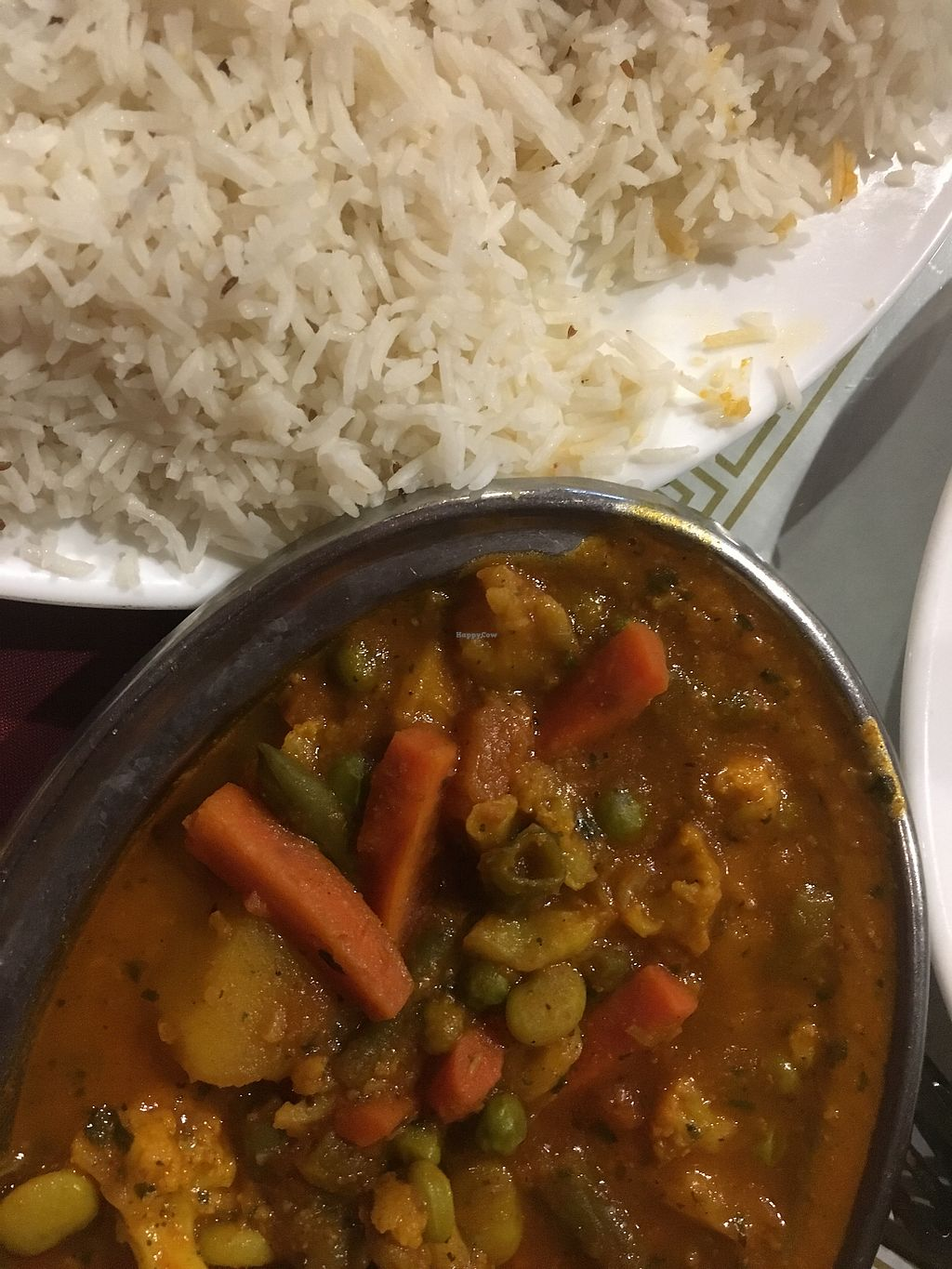 """Photo of Sitar Indian Cuisine  by <a href=""""/members/profile/CColors"""">CColors</a> <br/>Vegan dish unlimited rice <br/> March 11, 2018  - <a href='/contact/abuse/image/51266/369106'>Report</a>"""